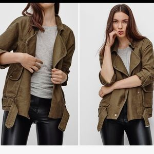 ARITZIA Military Inspired Jacket Army Green XS